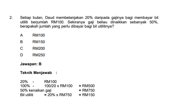 Contoh Soalan Peperiksaan Online Pegawai Tadbir Negeri N41 Ptn Negeri Johor 6 Exam Reading Johor