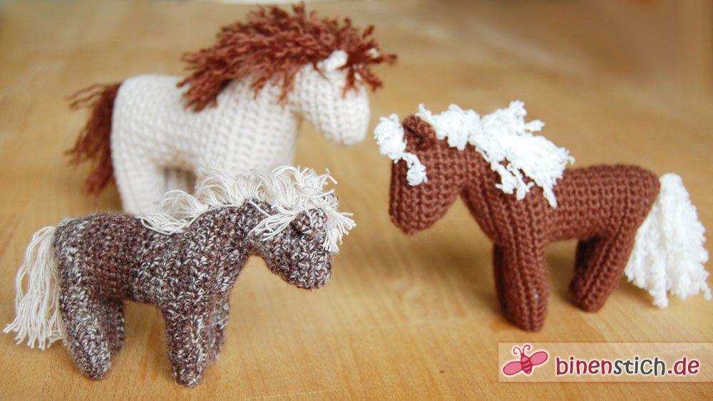 Pferd häkeln: Anleitung für das Häkelpferd im Shop! | crochet ...