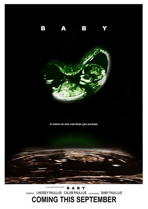 Custom SciFi Alien Baby Pregnancy Announcement – Custom Baby Announcements