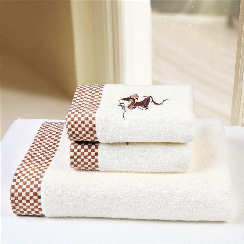 High Quality Cotton Towel Set Elegant Fashion Style 3pcs Bath Towels