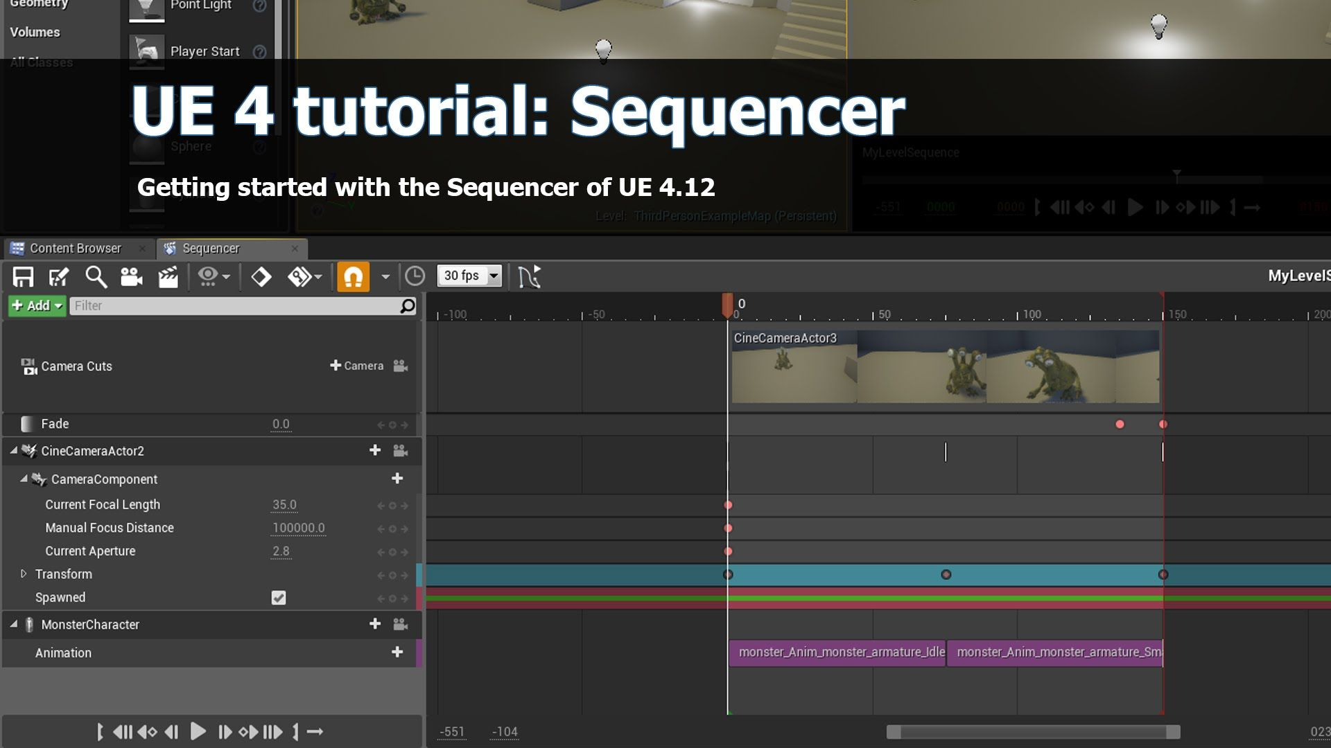 UE4 Sequencer Tutorial: Getting started | ue4 tutorials
