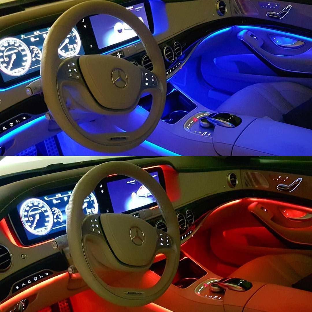 Blue Or Red Mercedes Benz S63 Ambient Light System Courtesy By