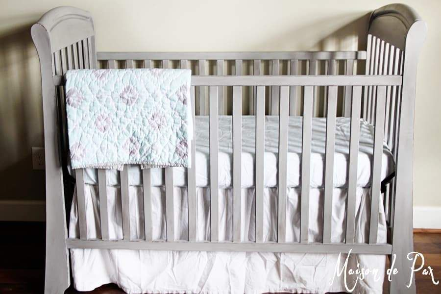 How To Safely And Easily Paint A Baby S Crib Crib Makeover Cribs Painting A Crib