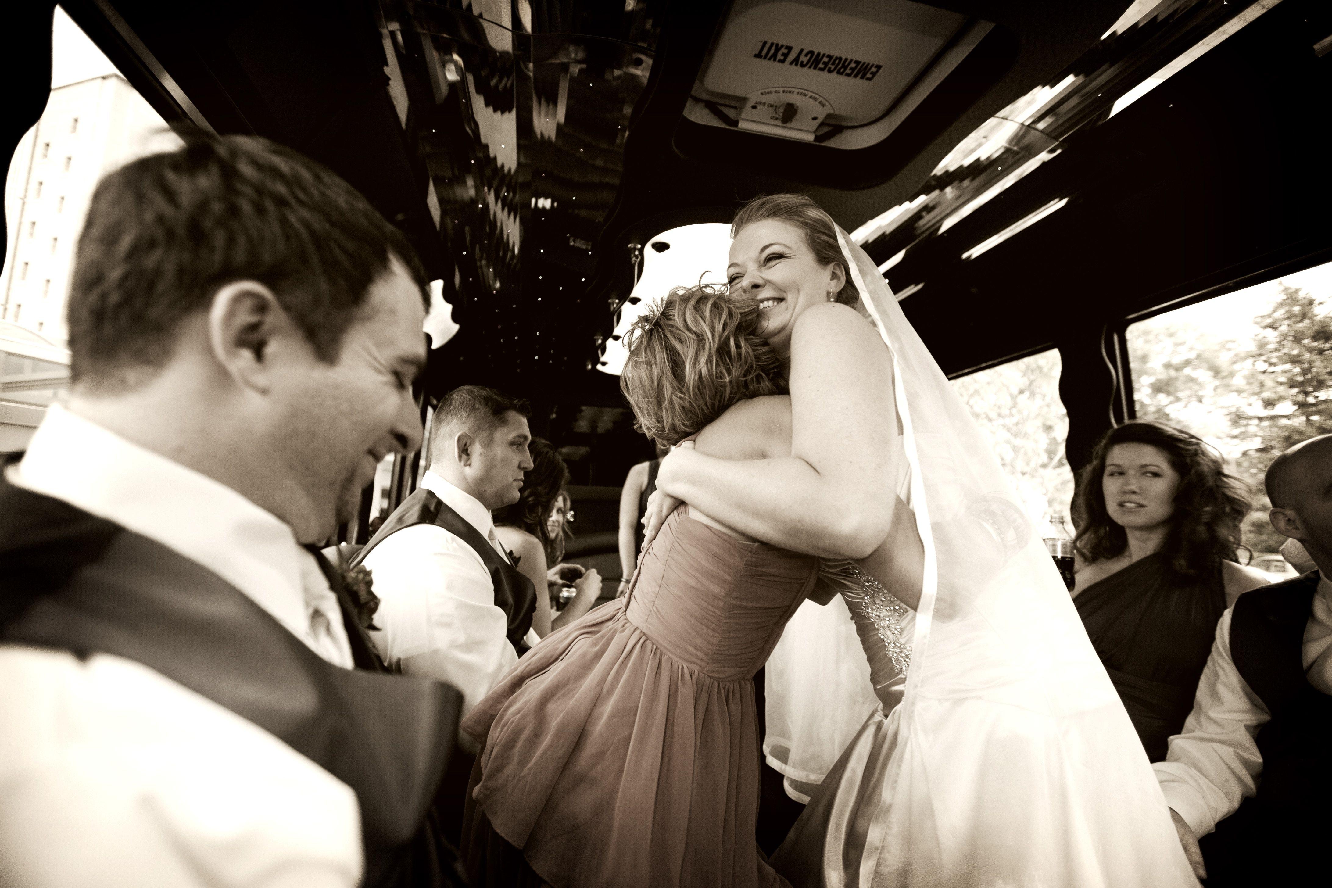 Photo by Eileen wedding Minnesota limo Wedding