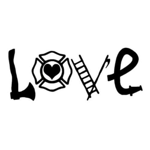 Download Love Firefighter Window Decal Sticker   Window decals ...