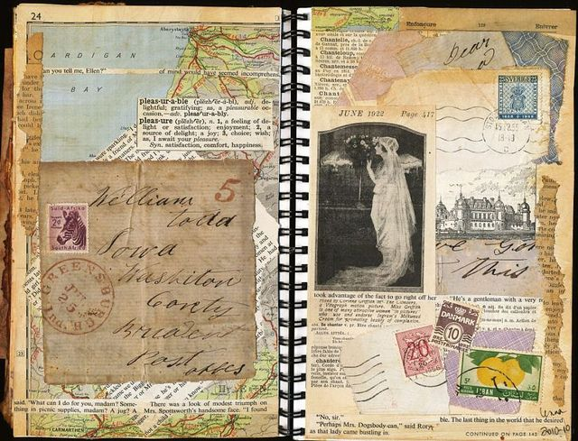 Lenna Lesson 7 Yvg Book Art Collage Book Art Journal Pages