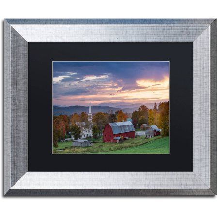 Trademark Fine Art Daybreak Canvas Art by Michael Blanchette Photography Black Matte, Silver Frame, Assorted