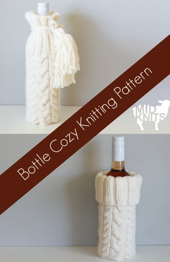 This will make an awesome gift! Wine bottle cozy KNITTING PATTERN ...