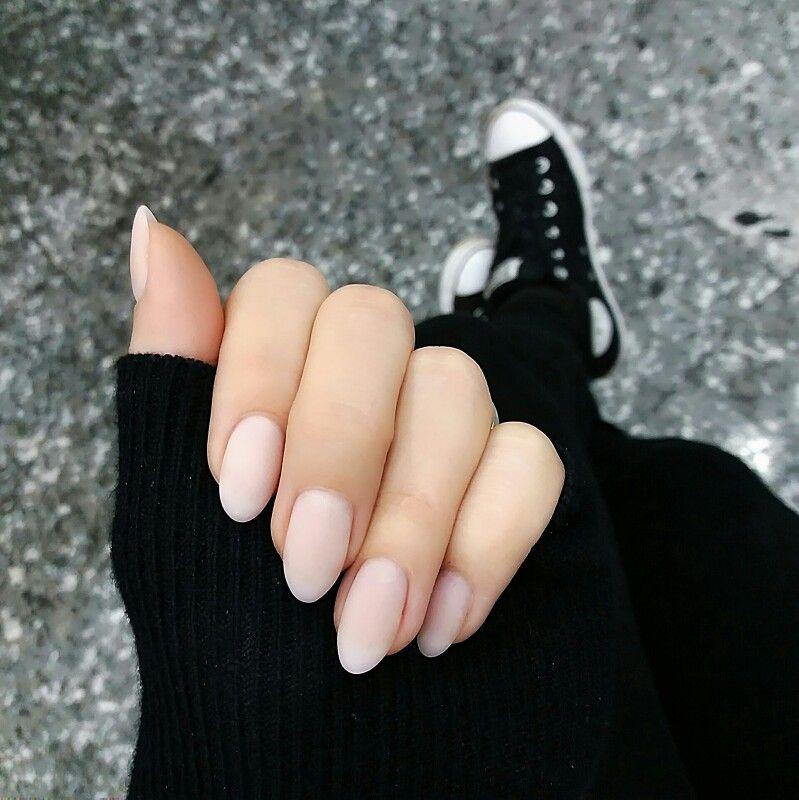 Gel nail extension #nails #gel #unhas #pink #black #converse | Nice ...