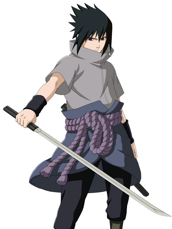 Sasuke Uchiha Naruto Anime Katana