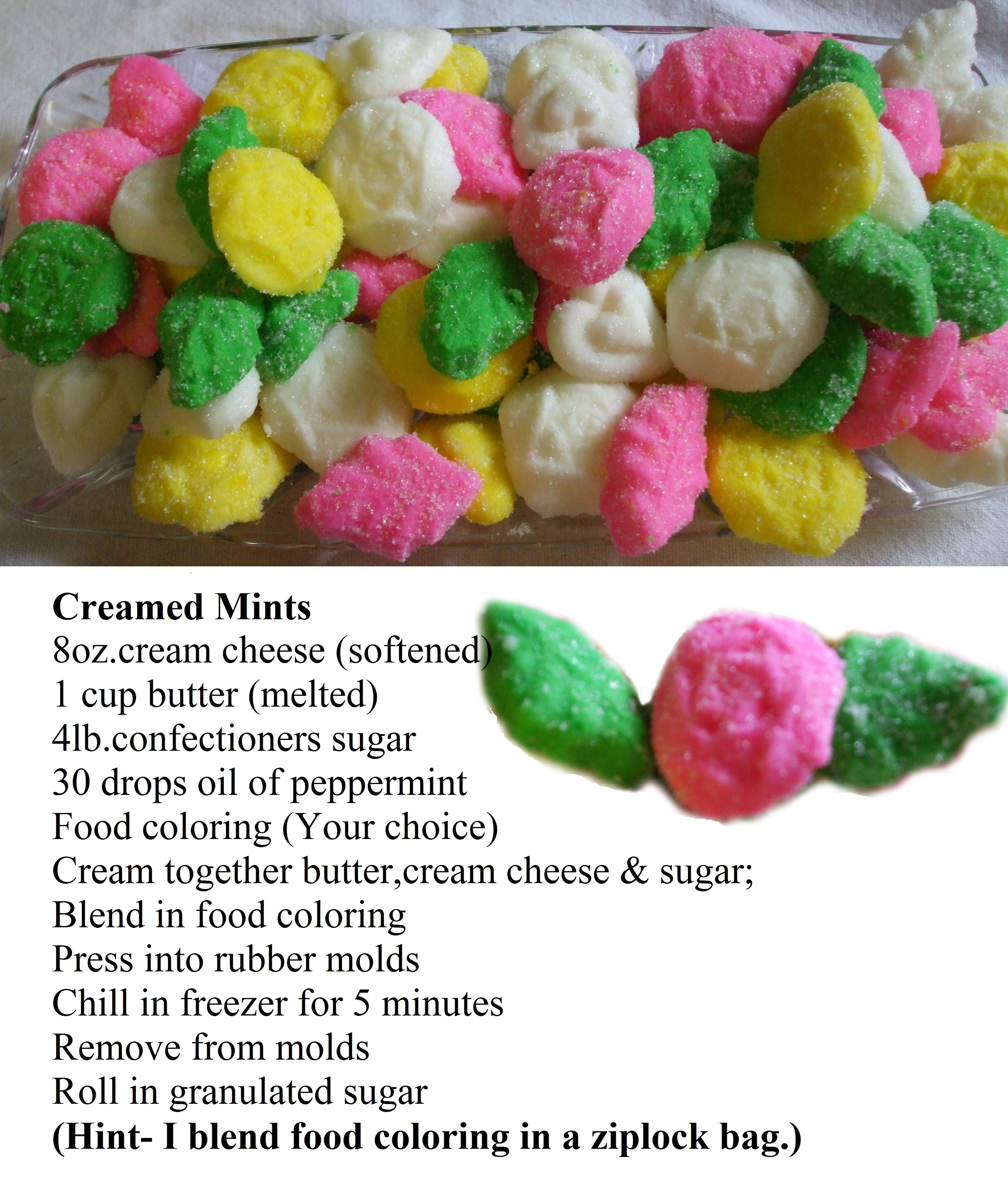Cream Cheese Mints- I\'m not the only one who loves these, right ...