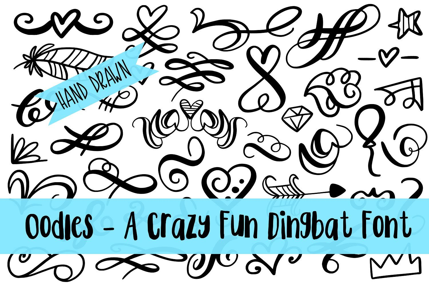 Oodles Dingbat Dingbat fonts, How to draw hands, Lettering