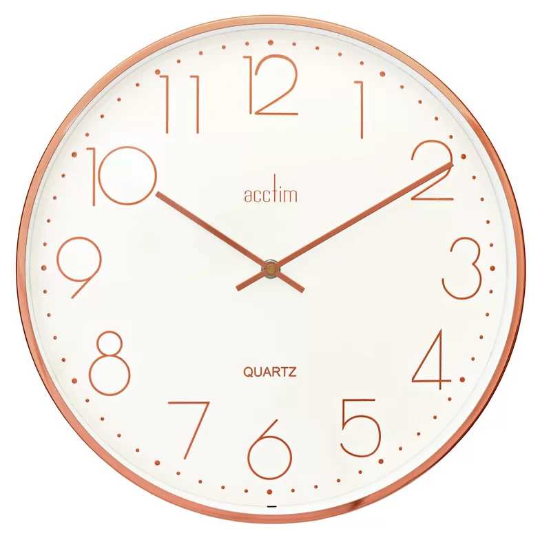 Acctim Thea 34.5cm Copper Embossed Wall Clock Wayfair.co