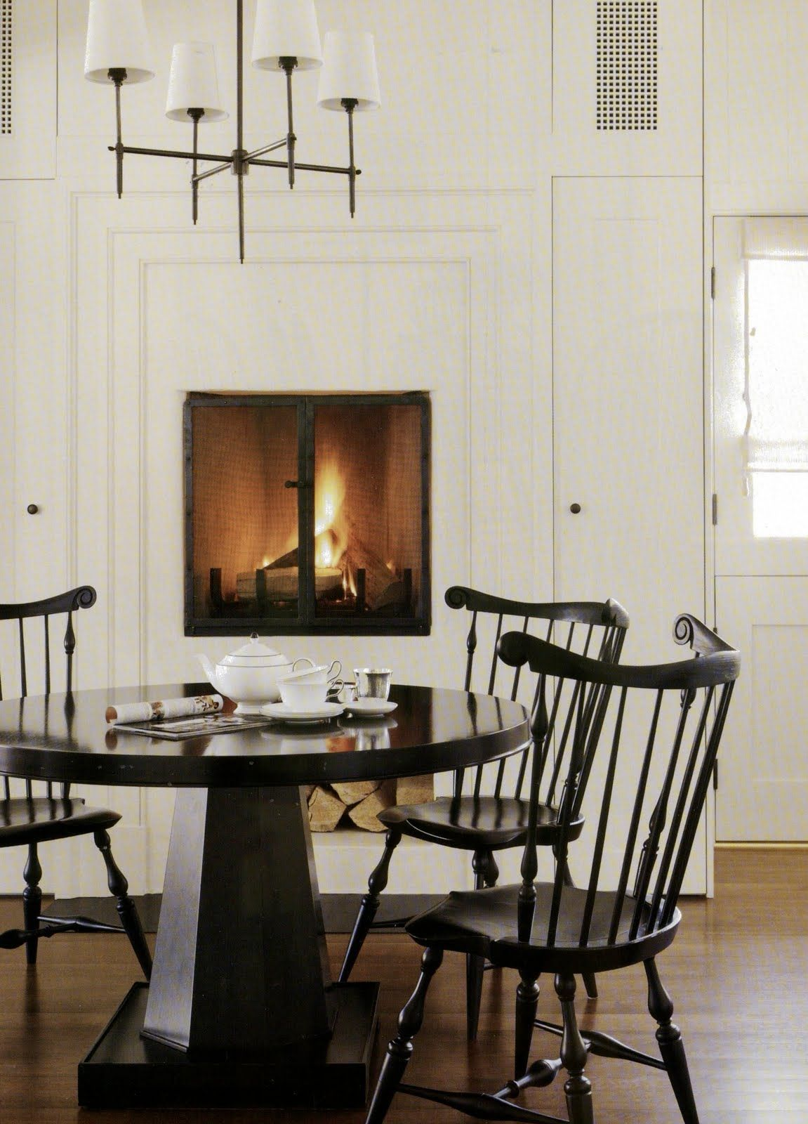 It S A Black And White Situation Kitchen Fireplace Home