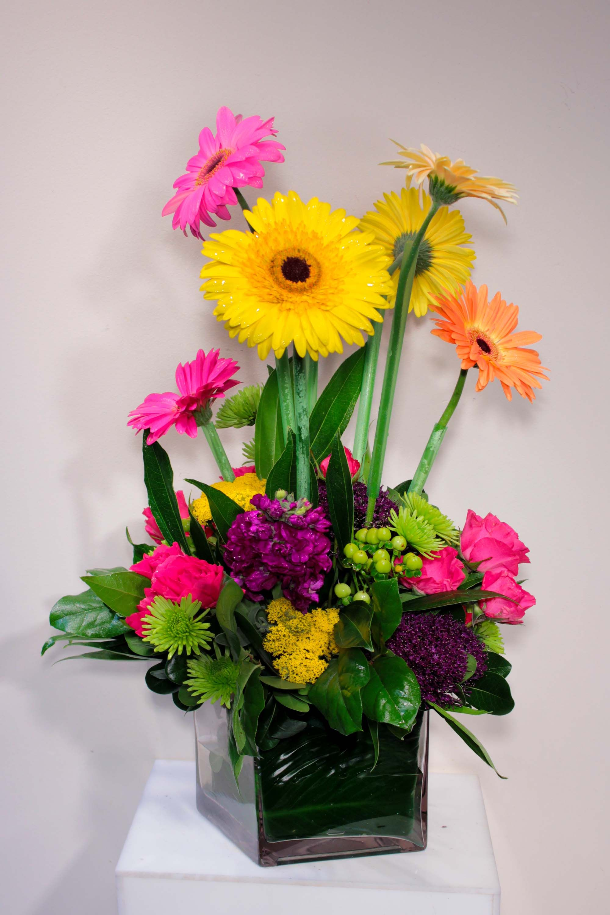 Gerbers with multitude of other brightly colored flowers gerber gerbers with multitude of other brightly colored flowers izmirmasajfo