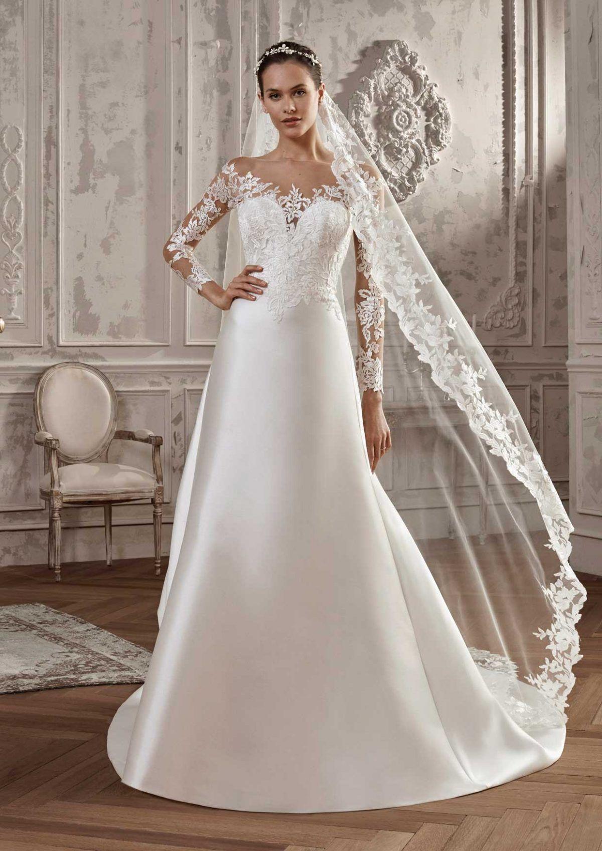 Brautmode San Patrick Hochzeitskleider aus satin, Kleid