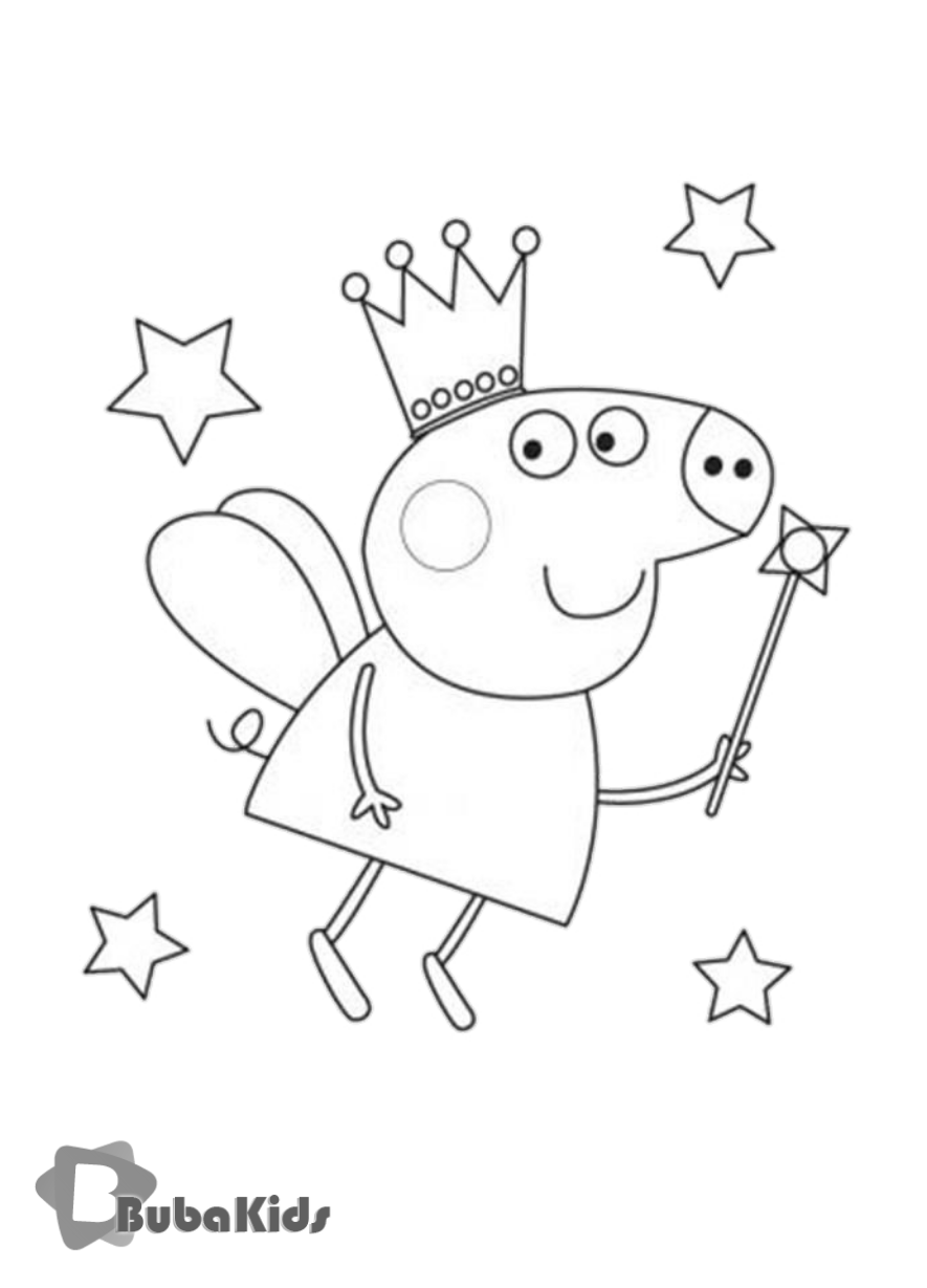 Enjoy Peppa Pig Activities With Your Little One Colour In Your Favourite Character On Bub Peppa Pig Coloring Pages Peppa Pig Colouring Birthday Coloring Pages