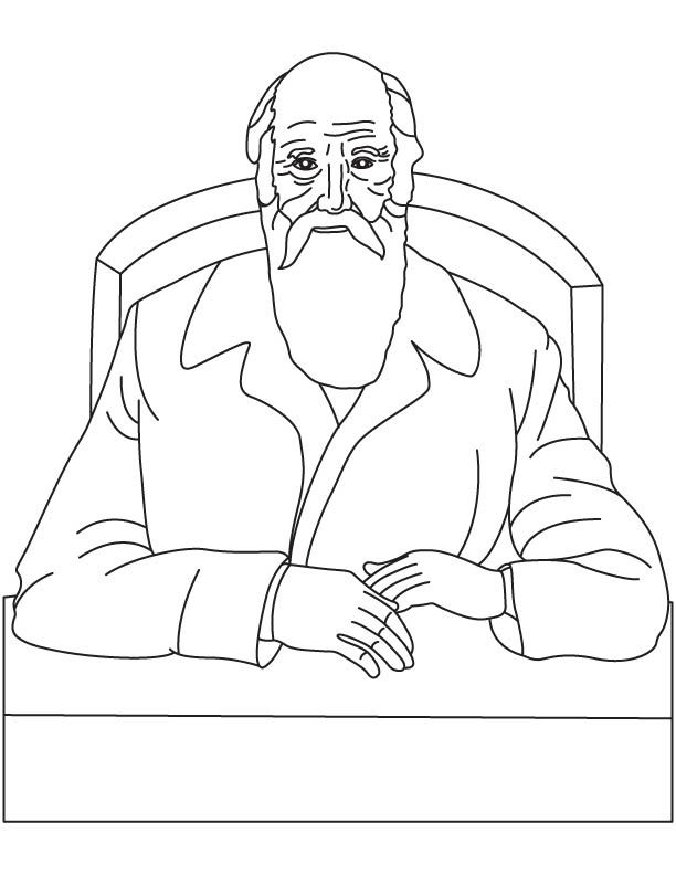 charles darwin coloring pages