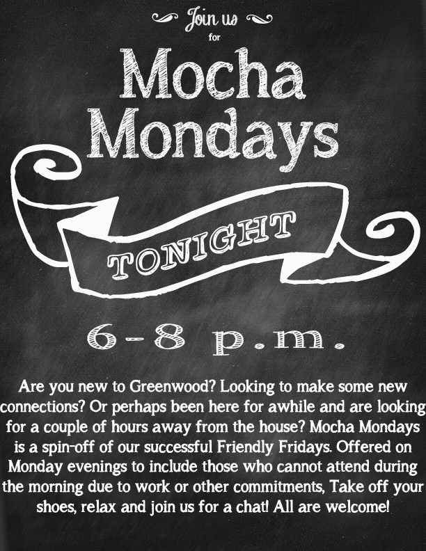 Mocha Mondays at the GMFRC 6 p.m.