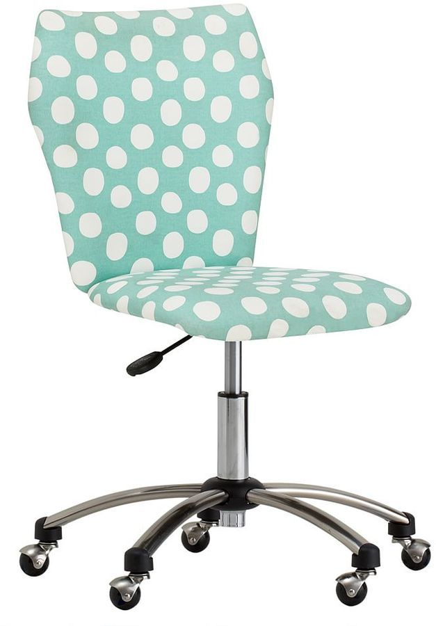 Airgo Armless Chair, Pool Painted Dot Print, Turquoise, Teal, Pattern,  Aesthetic, Teal Theme, Computer Chair, Office, Office Chair ( Affiliate )