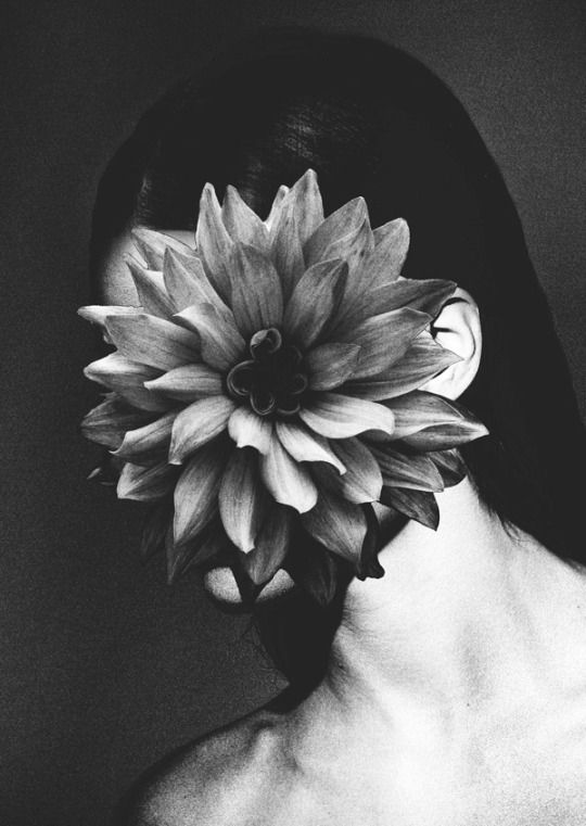 I like this photograph because it shows growth, through the flower. The flower could imply the transformation from a young girl that is currently developing. In addition the flower never stops growing until the day it dies which interrelates with the life of the woman. However, you could argue that it also shows decay through the lack of colour.   Rocio Montoya