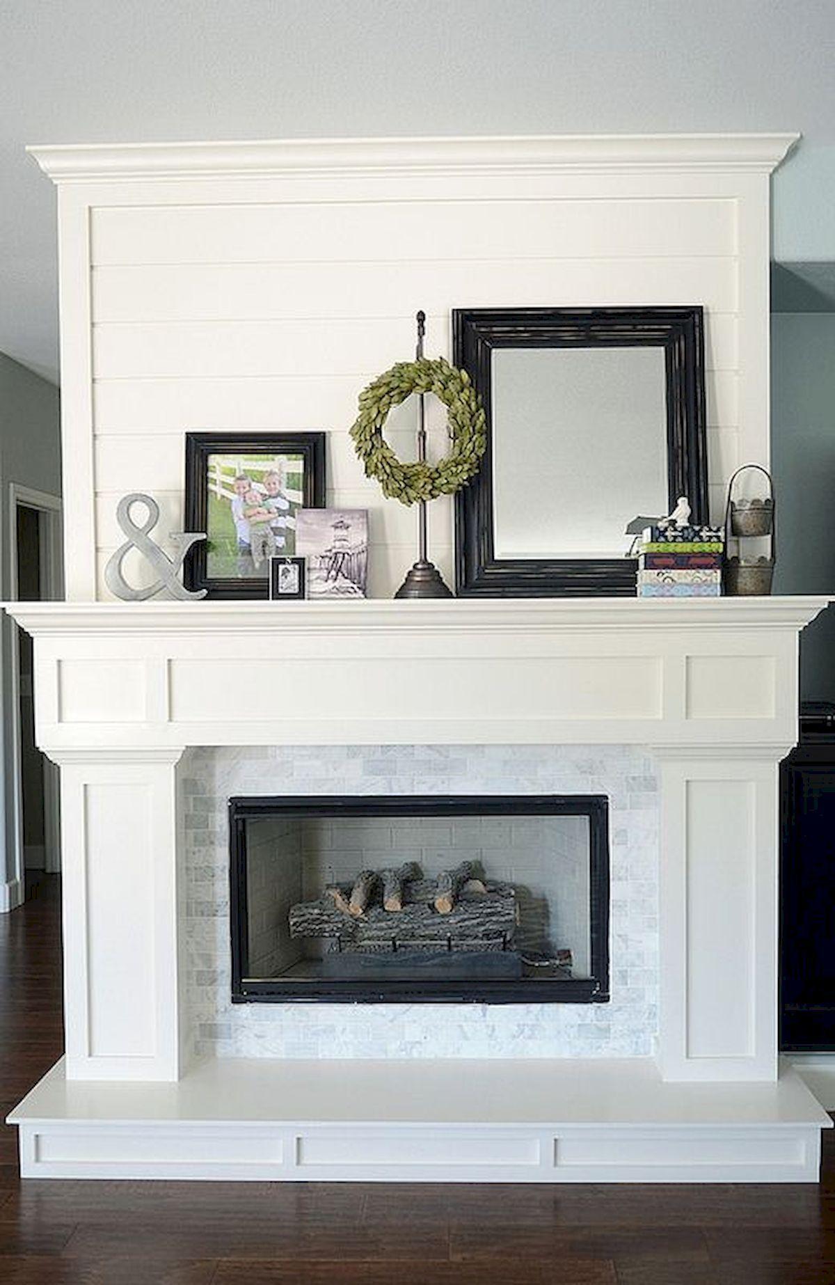 40 Best Modern Farmhouse Fireplace Mantel Decor Ideas 6 Home Fireplace Home Living Room Fireplace Mantel Decor
