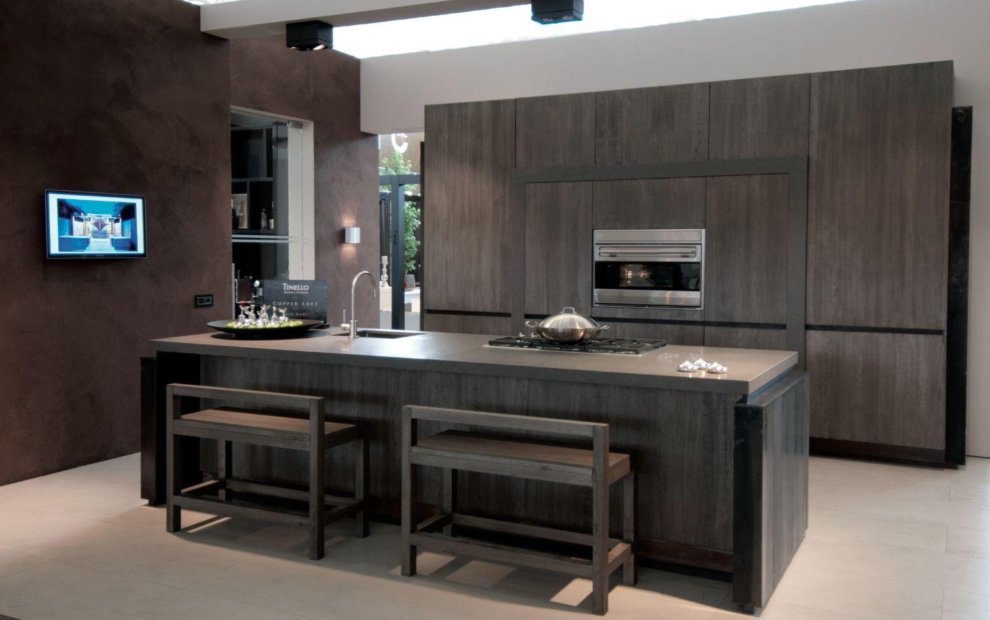 Minimalistische landelijke keuken van eric kant tinello keukens keukens kookeilanden - Bar design keuken ...