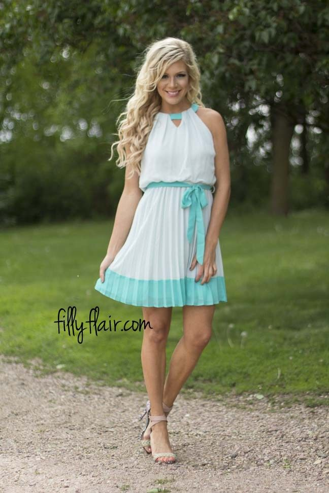 Pleated to Meet you in Jade | This would be a lovely dress to wear to a wedding!