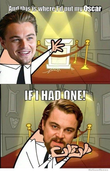 Another Oscars Another Disappointment For Leonardo Dicaprio Haha Funny Laugh Funny Pictures
