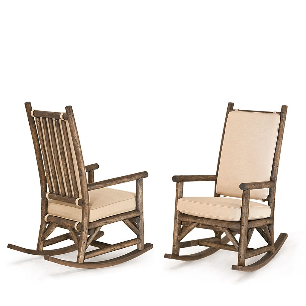 Rustic Rocking Chair 1189 Kahlua Finish On Peeled Bark By La