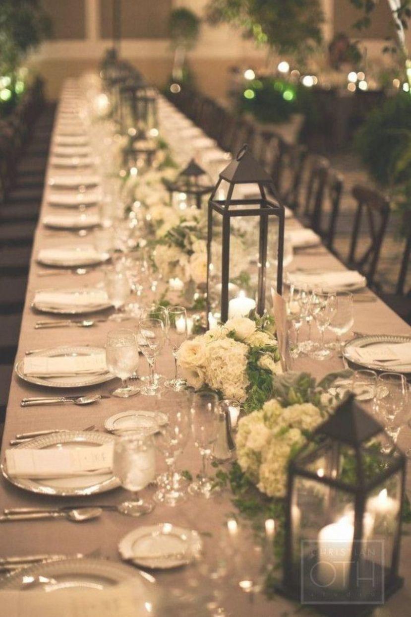The 25 Best Long Wedding Tables Ideas On Pinterest Weddingcenterpieces Lanternst Wedding Reception Table Setting Ideas Wedding Table Setup Long Table Wedding