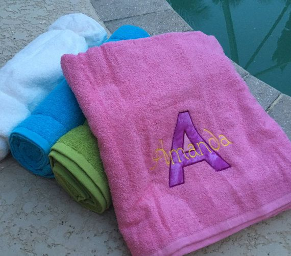 Personalized Towel Beach Shower Bridal Party Gift