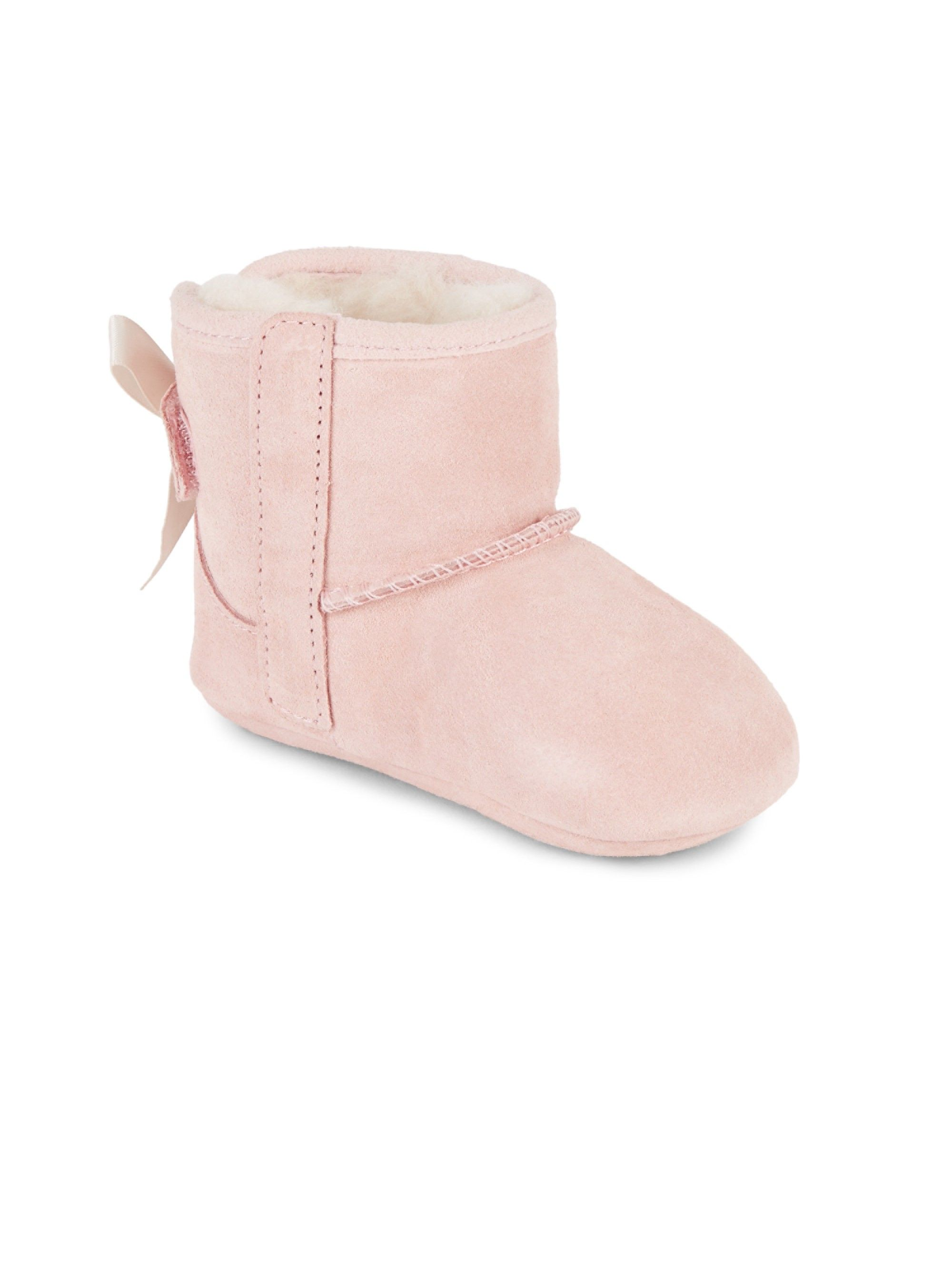 bdb63e7e776 Ugg Australia Baby Girl's Jesse Bow II Suede Booties - Pink Small (2 ...