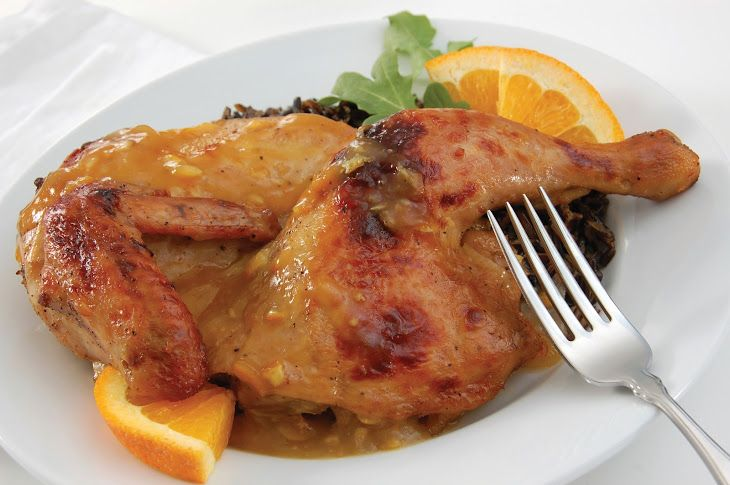 Pressure Cooker Duck in Orange Sauce Recipe with duck drumsticks, duck fat, celery, large carrots, shallots, garlic, triple sec, dry white wine, dried thyme, dried parsley, dried sage, orange, white wine vinegar, salt, freshly ground black pepper
