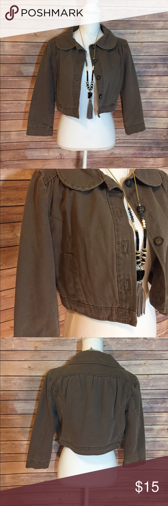"MNG cropped jacket Excellent condition MNG cropped jacket, taupe color 15""L 20""B MNG Jackets & Coats"