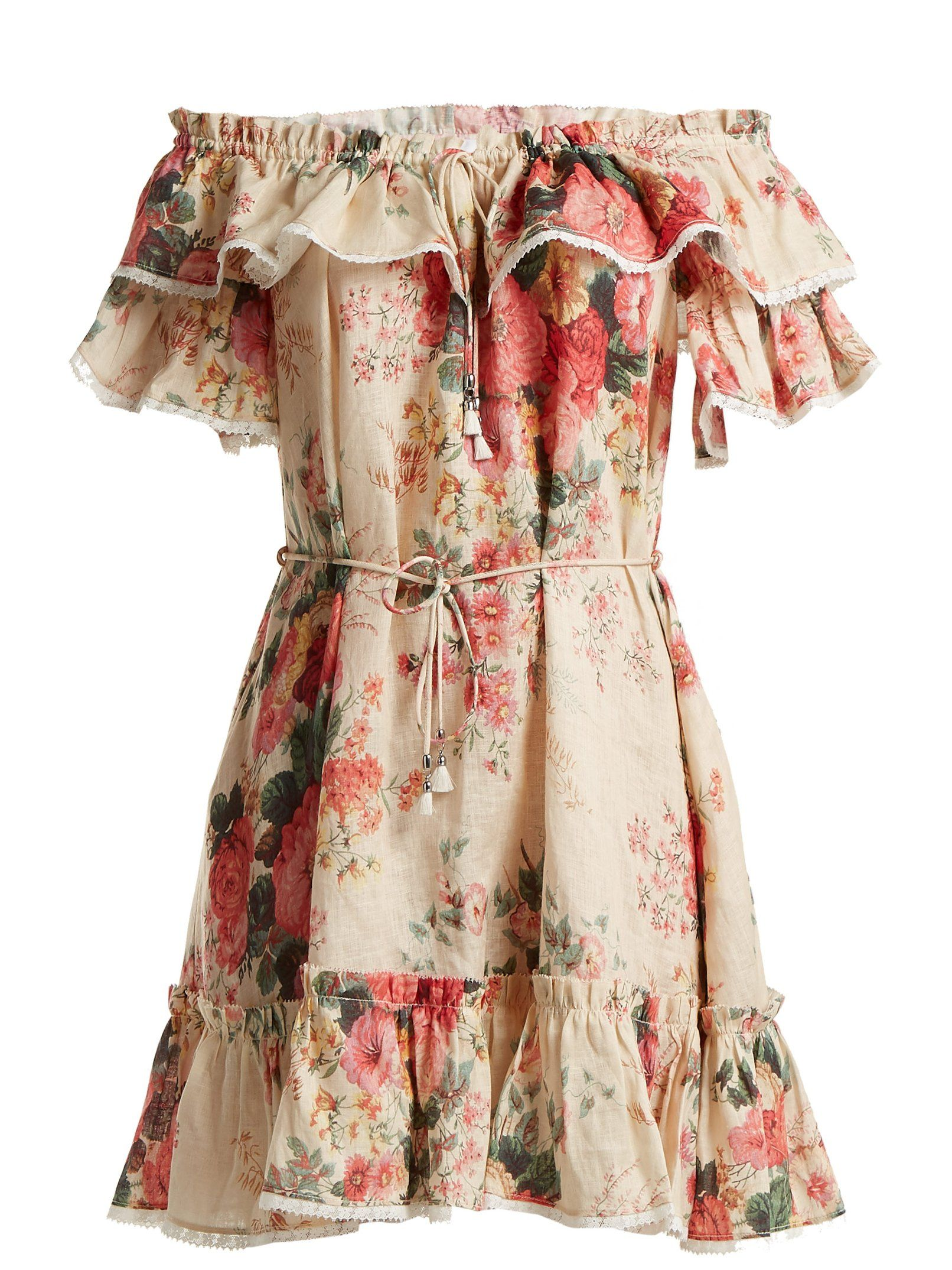 aac07bd0cea75 Laelia floral-print linen dress | Zimmermann | MATCHESFASHION.COM ...