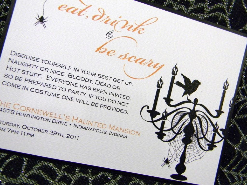 Halloween Costume Party Invitations | ||all hallows\' eve ...