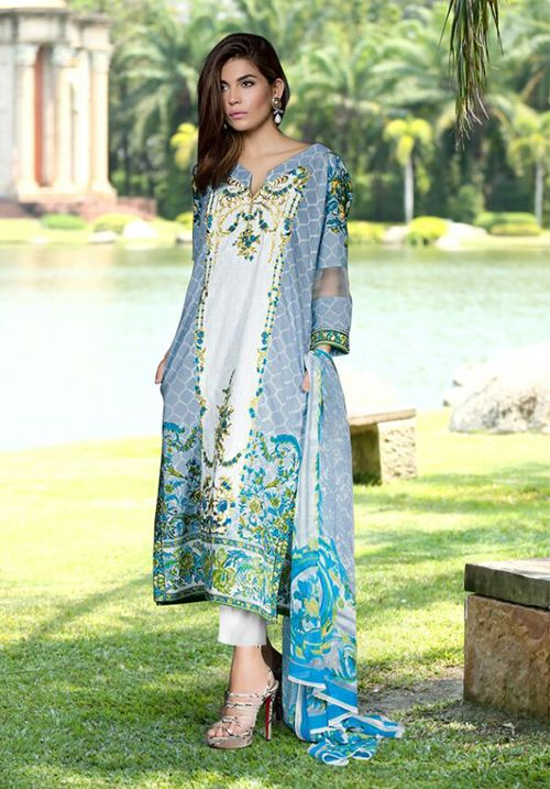 19eac9389c Ali Colours Cambric Lawn Cotton Dress Material With Print And Embroidery  Patch Work Design For Women