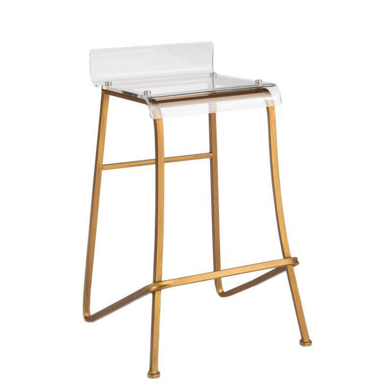 Pleasing Gold Acrylic Counter Stool In 2019 Products Acrylic Inzonedesignstudio Interior Chair Design Inzonedesignstudiocom