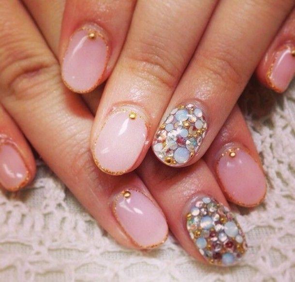 nail polish sweater baby pink cream nails cute nail stickers nail ...