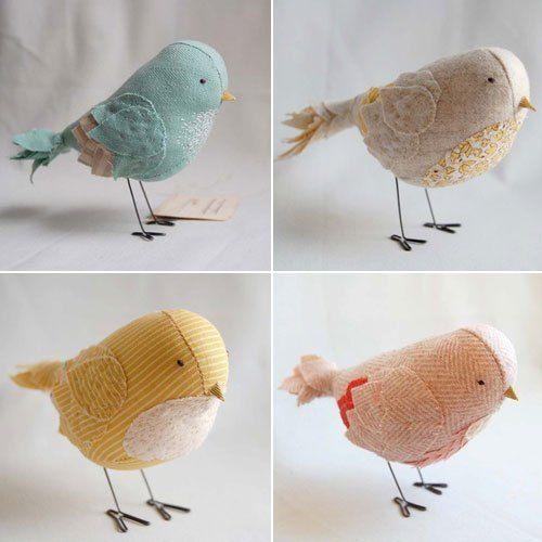 Baby Fabric Birds - I wish there were a tutorial for these :(