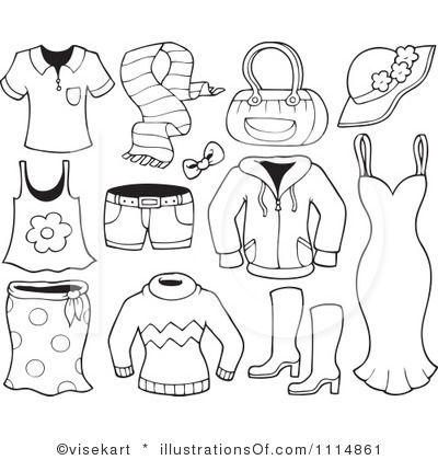 Summer Clothes Coloring Sheets Designs Collections