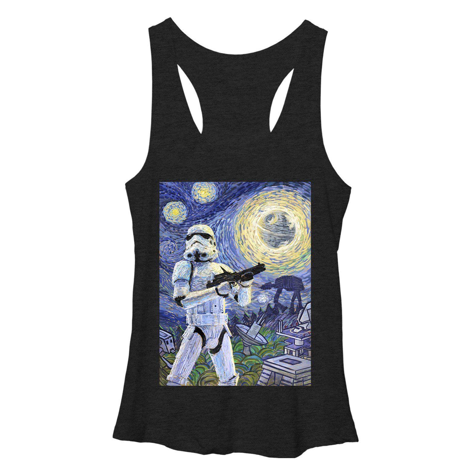 Women's - Stormtrooper Starry Night Star Wars Racerback Tank ...