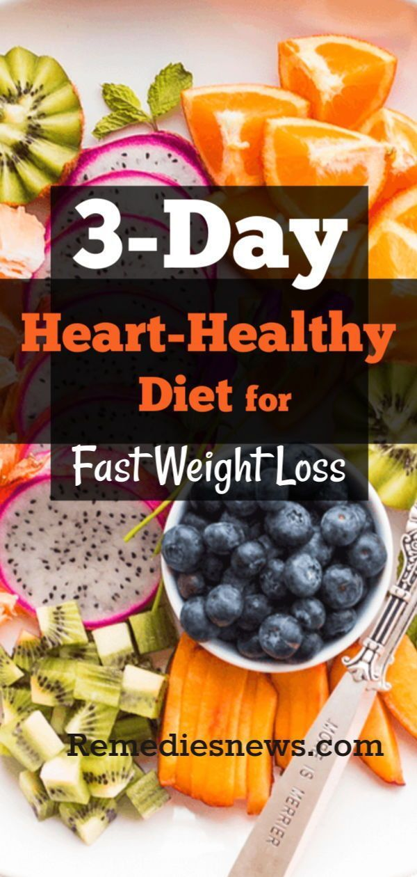 3-Day Cardiac Diet- Lose 10 Pounds in 3 Days with Heart Healthy Foods #hearthealthydesserts