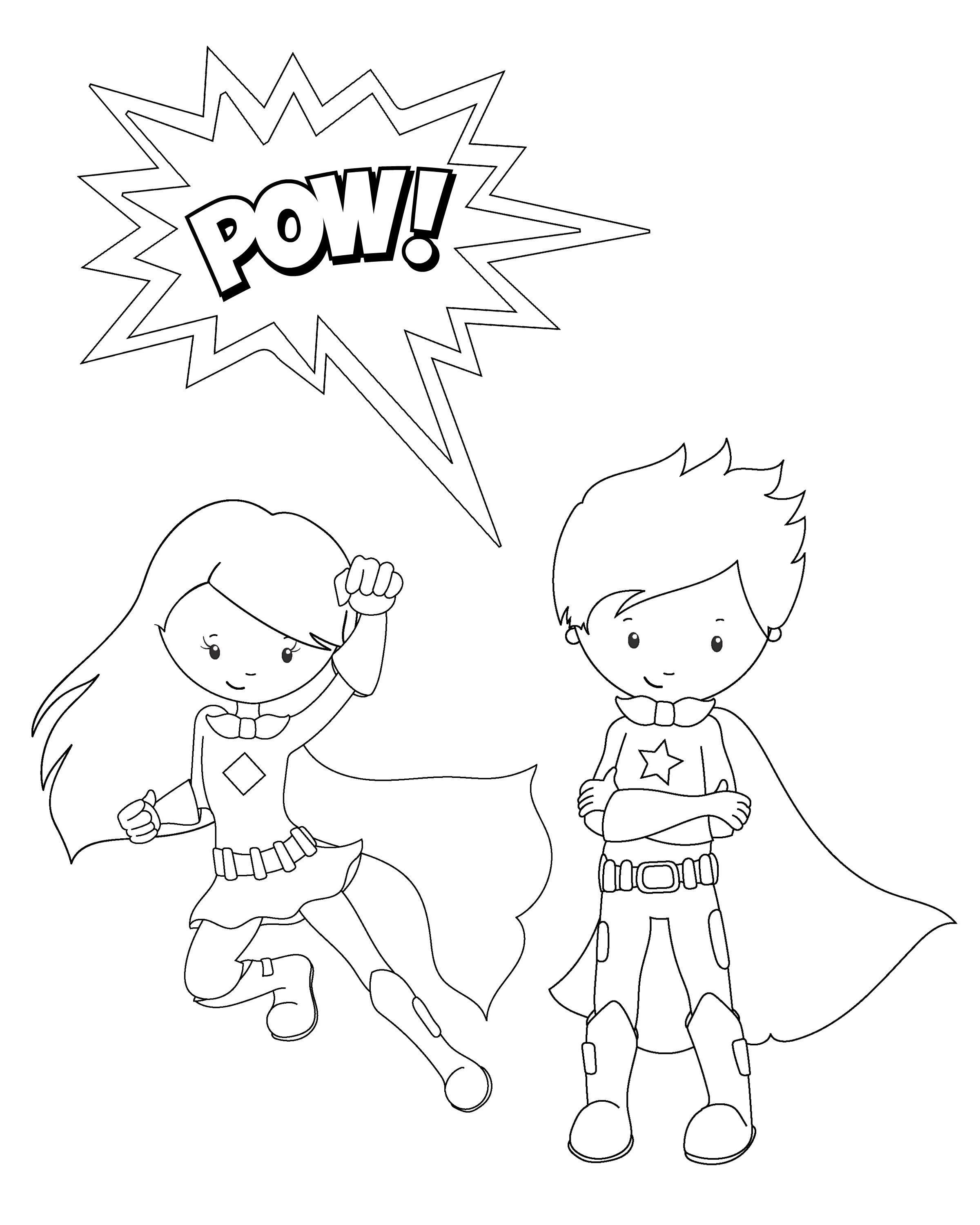 Free Printable Superhero Coloring Sheets For Kids Super Hero