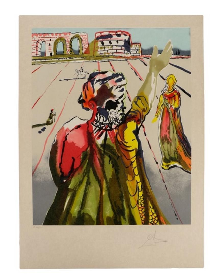 Salvador Dali Spanish 1904 1989 The Poet Advises The Maiden The Hand 1981 Lithograph In Colors On Japon Paper Dali Art Salvador Dali Salvador Dali Art