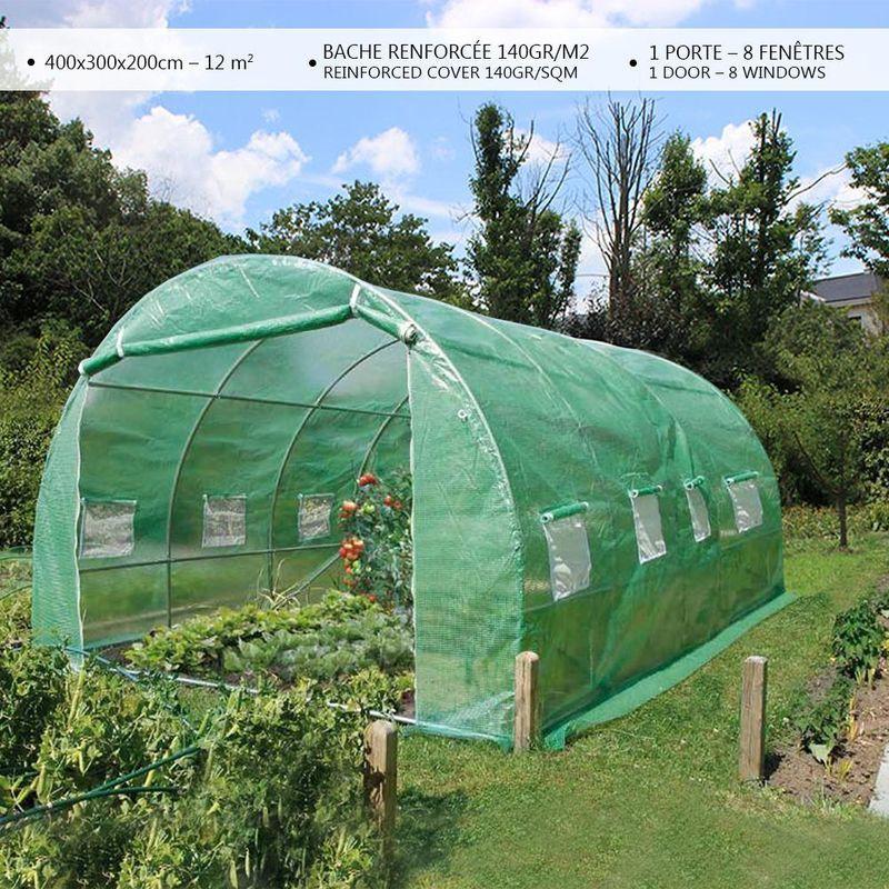 Serre De Jardin 12m2 En Acier Galvanise Vounot In 2020 Outdoor Gear Outdoor Garden