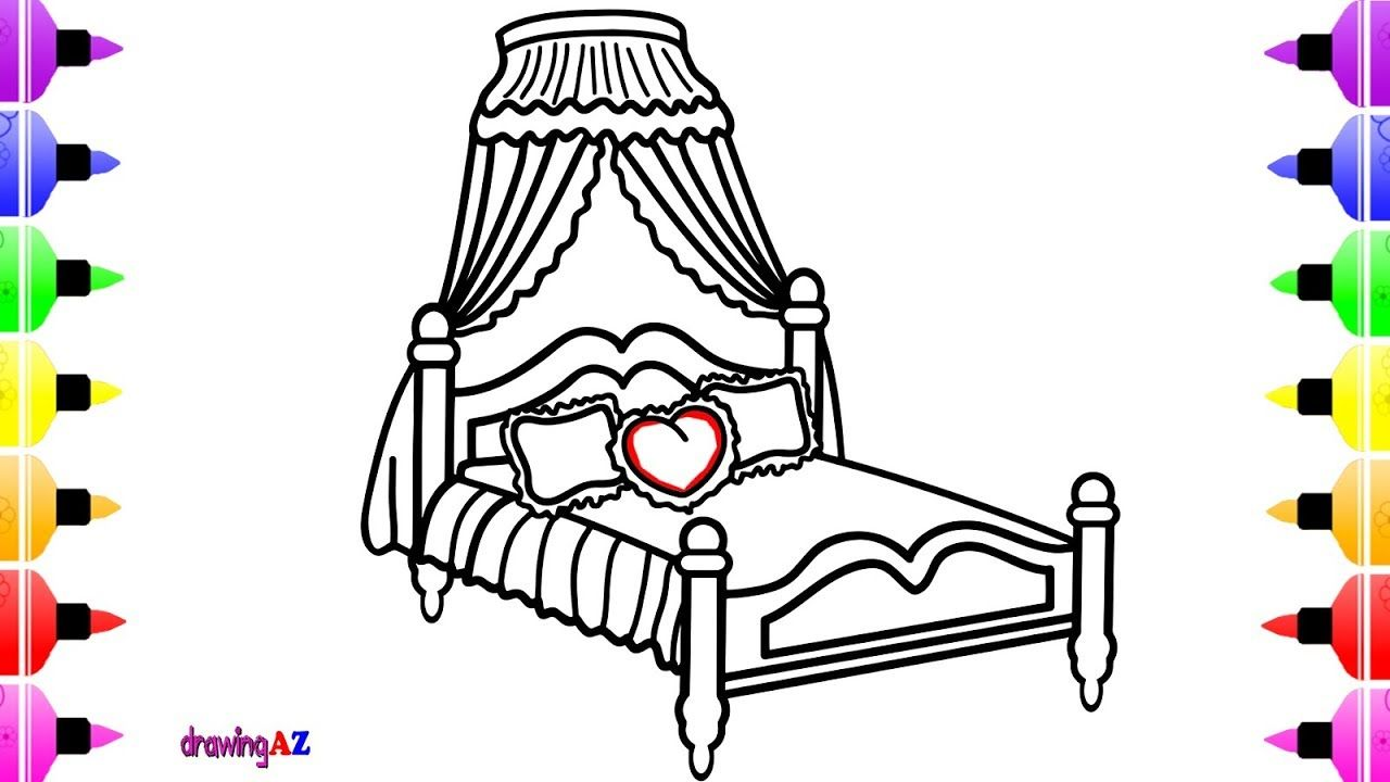 How To Draw Disney Princess Toddler Bed For Kids Children S Coloring Page Disney Princess Toddler Disney Princess Drawings Coloring Pages For Kids