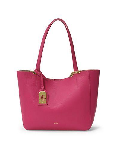 ... order lauren ralph lauren acadia leather shopper bag womens bright rose  c2c7f ece1d 1d985e6aa1