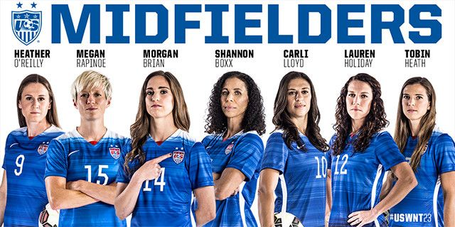 Uswnt Unveils 23 Player World Cup Roster Soccer365 Usa Soccer Women Uswnt Soccer Us Women S National Soccer Team